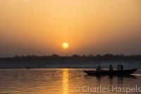 India sunrise Ganges River boat dawn